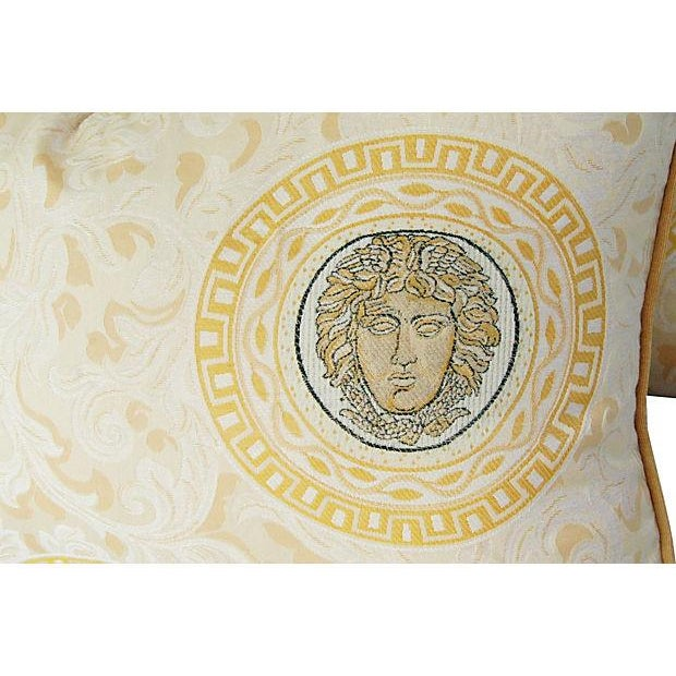 Designer Italian Versace-Style Medusa Pillow - Image 5 of 5