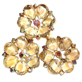 Triple-Flower Brooch