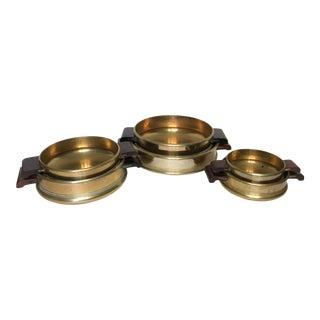 Vintage Indian Brass Uruli - Set of 6