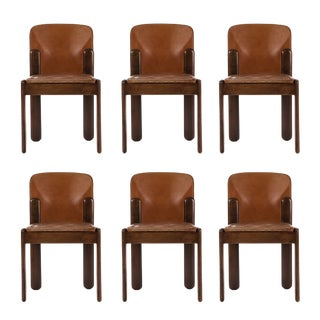 Set of Six Silvio Coppola Dining Chairs