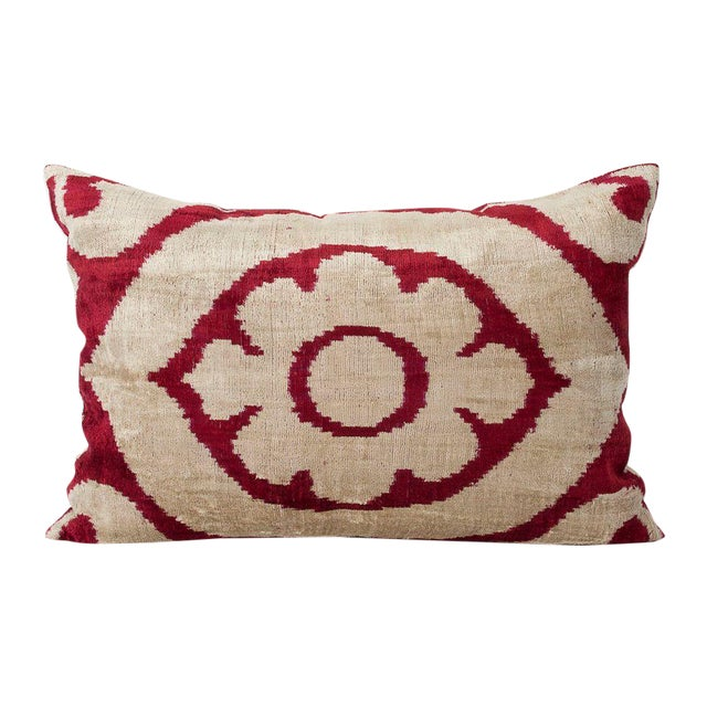 Marsala Silk Velvet Accent Pillow - Image 1 of 2