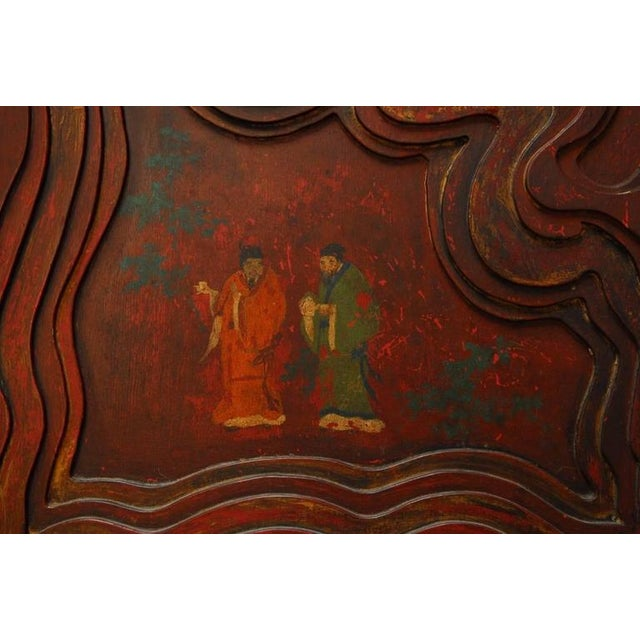 Chinese Carved Temple Courtyard Door Panels - A Pair - Image 8 of 10