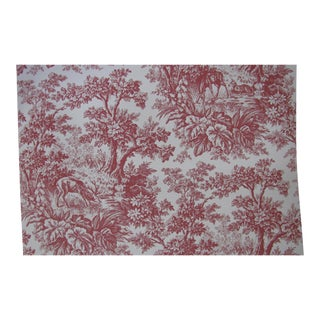 "Schumacher Wallpaper 18th Century Traditional ""Acadia Forest"" in Red - 3 Single Rolls"