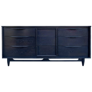 Mid-Century Midnight Blue Cerused Dresser