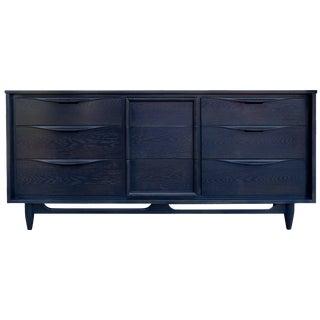Mid-Century Midnight Blue Cerused Dresser