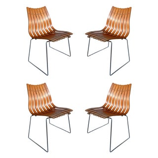 Hans Brattrud Scandia Teak Chairs - Set of 4