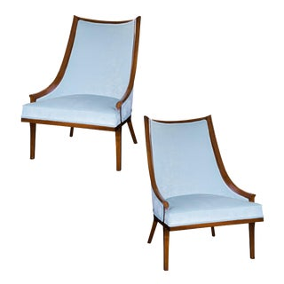Hollywood Regency Slipper Chairs - A Pair