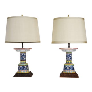 Chinese Porcelain Lamps - A Pair