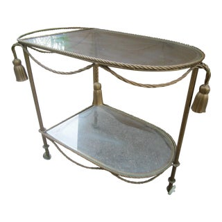 Gilt Rope & Tassel Bar Cart