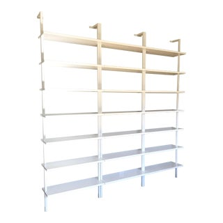 CB2 Stairway White Wall Mounted Bookcase - Set of 3