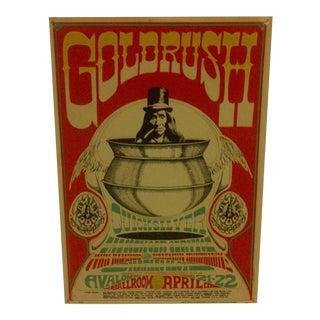 "Vintage Concert Poster ""Goldrush"" Circa 1967"