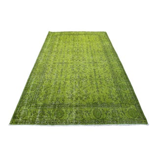 "Green Turkish Overdyed Rug - 5'1"" X 8'9"""