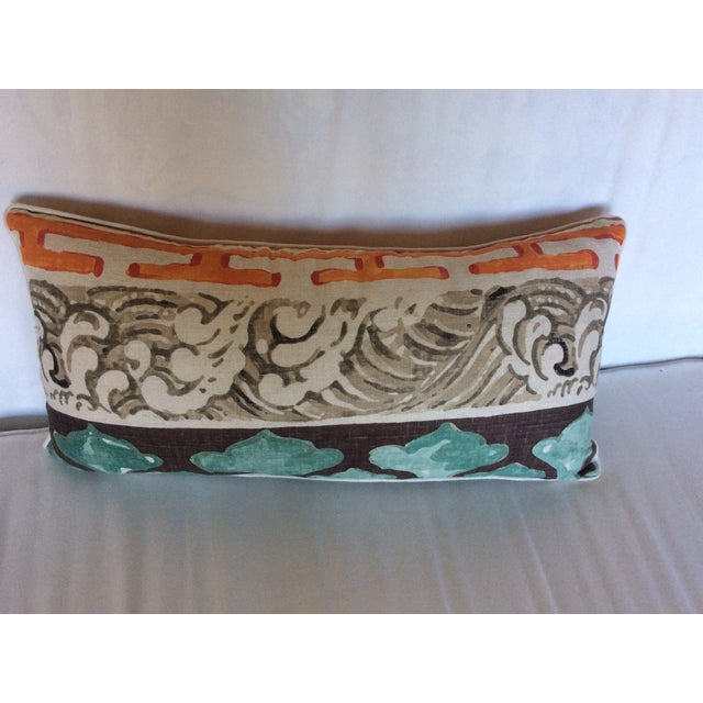 Jim Thompson Asian Style Linen Pillows - A Pair - Image 4 of 4
