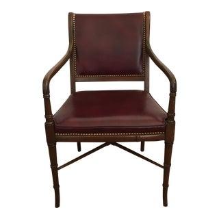 Cabot Wrenn Custom Burgundy Leather Chair