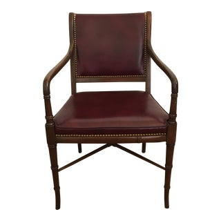 Cabot Wrenn Custom Burgundy Leather Chair