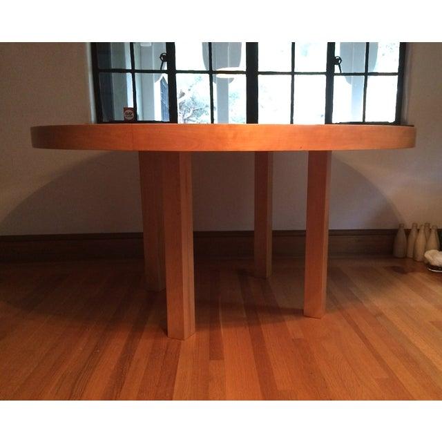 Image of Custom Alvar Aalto-Inspired Round Wood Table