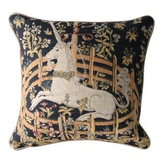 Medieval Unicorn Pillow Cover