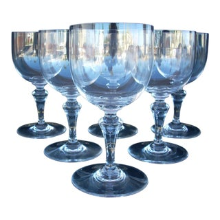 Vintage Baccarat Crystal Wine Glasses - Set of 6