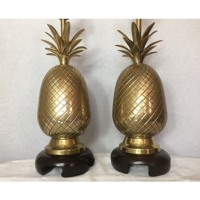 Frederick Cooper Brass Pineapple Lamps A Pair Chairish
