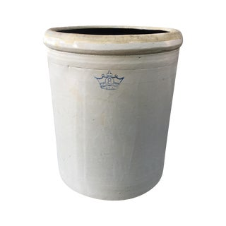 Robinson Ransbottom Blue Crown Stoneware Pot Crock