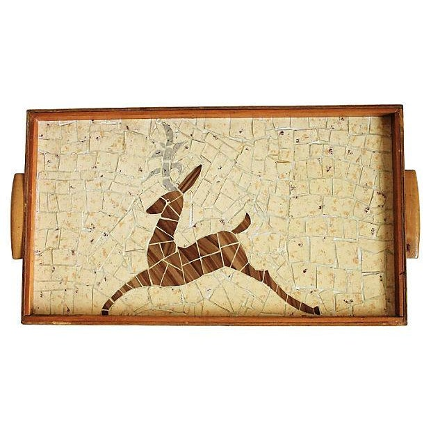 Tiled Wood Serving Tray - Image 1 of 3