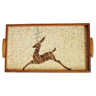 Tiled Wood Serving Tray