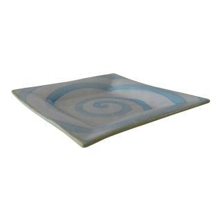 "1983 Mackenzie Childs 9.5"" Square Plate"
