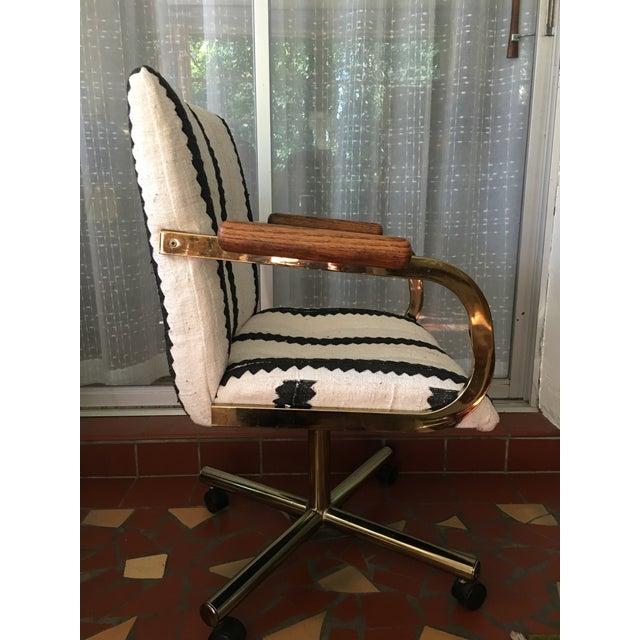Black & White Desk Chair - Image 7 of 9
