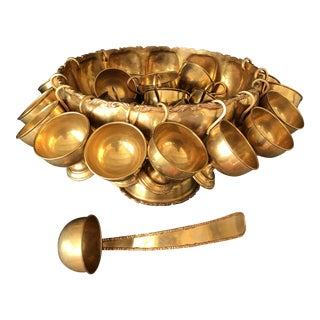 Brass Punchbowl Set - 26 Piece