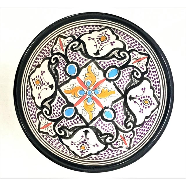 Moroccan Hand-Painted Small Multicolored Bowl - Image 2 of 3