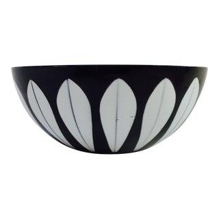 Cathrineholm Vintage Mid-Century Modern Black Enameled Lotus Bowl