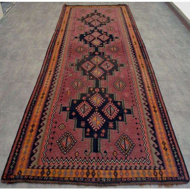 Masterpiece Antique Turkish Kilim Rug Large Runner Rare