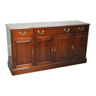 Wellington Hall Solid Mahogany Traditional Sideboard Buffet Cabinet