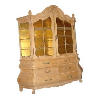 Antique Breakfront Display Cabinet