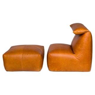 Mario Bellini Le Bambole Chair & Ottoman