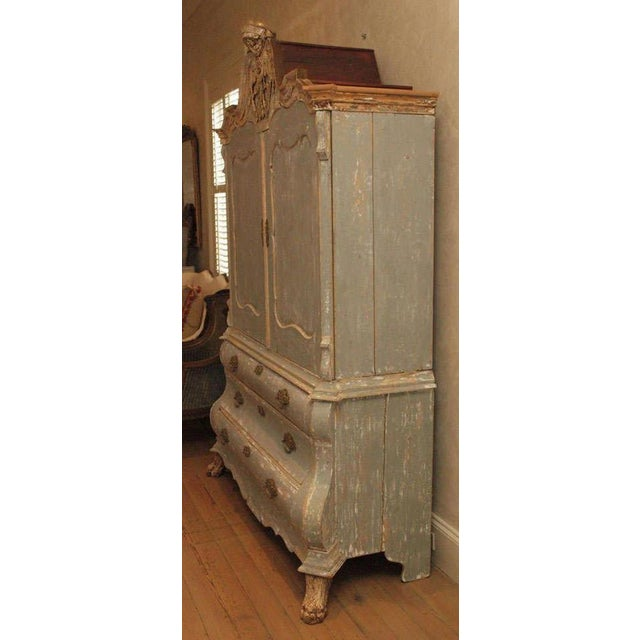 19th C Dutch Painted Buffet Deux Corp - Image 8 of 11