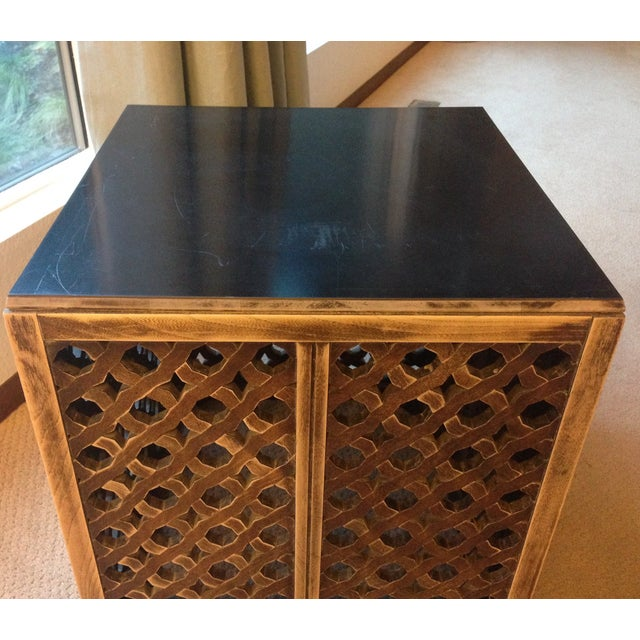 Mid-Century Moroccan Style Wood Side Table - Image 7 of 7