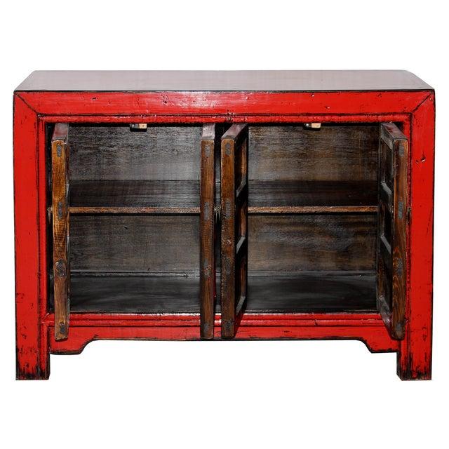 Red Paneled Door Sideboard - Image 3 of 5