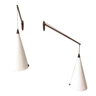Uno & Osten Kristiansson for Luxus Swiveling Wall Sconces - a Pair