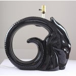 Image of Black Ceramic Ram's Head Table Lamp
