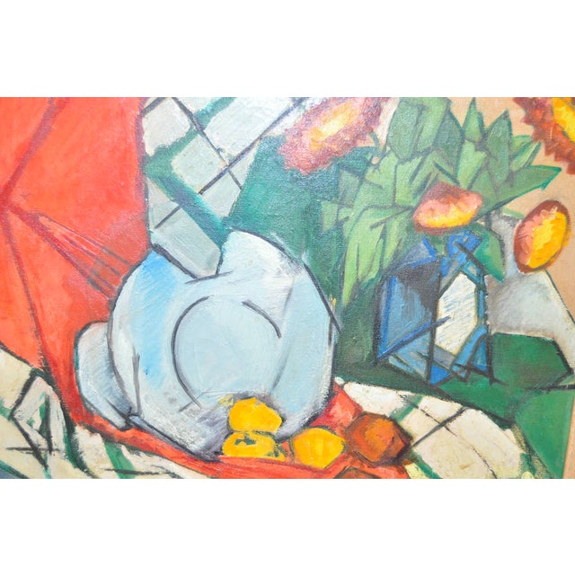 Mid Modern Still Life Oil Painting C.1950's - Image 3 of 6