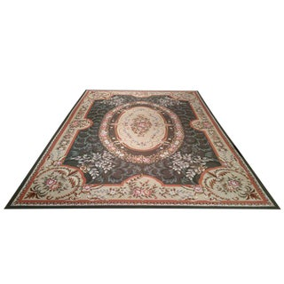 French Needlepoint Hand Made Rug - 9′9″ × 13′10″