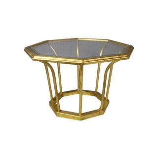 Gold Tole Side Table