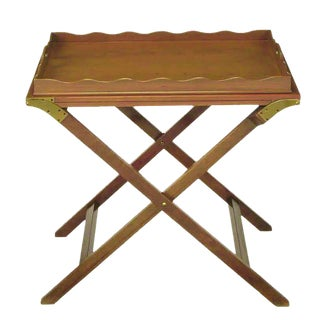 Baker Serving Table with Removable Tray and Butterfly Top