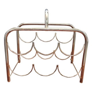 Vintage Gold Metal Wine Rack