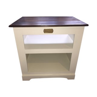 White Clad Side Table