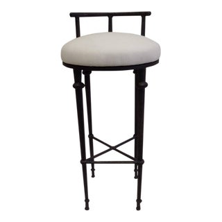 Three French Solid Bronze Bar Stools in the Manner of Diego Giacometti