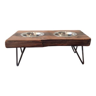 Reclaimed Wood Pet Feeding Station