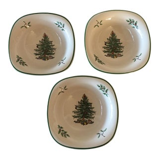 Spode Christmas Tree Square Bowls - Set of 3