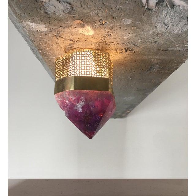 Customizable Semi-Precious Light Fixture - Image 3 of 4